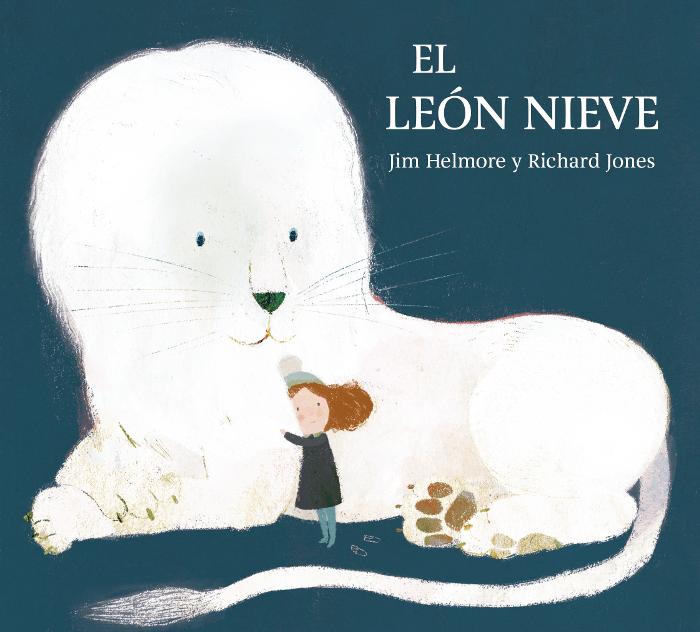 Portada - Libro ilustrado - Leetra - El leon nieve de Jim Helmore y Richard Jones
