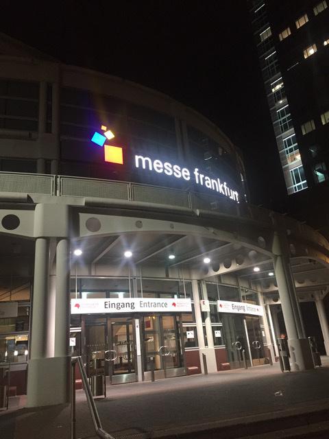 Edificio messe frankfurt: editorial leetra en la Feria Internacional del libro de Frankfurt
