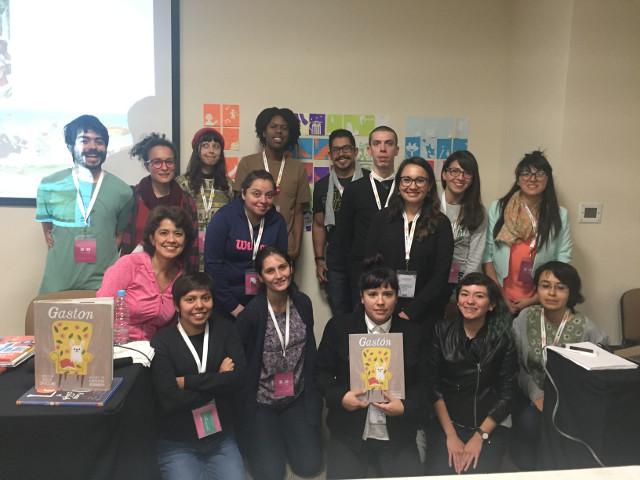 Christian Robinson con ilustradores mexicanos FIL Guadalajara 2016
