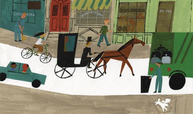 ilustración del libro Antoinette, de Kelly Dipucchio y Christian Robinson - Editorial Leetra