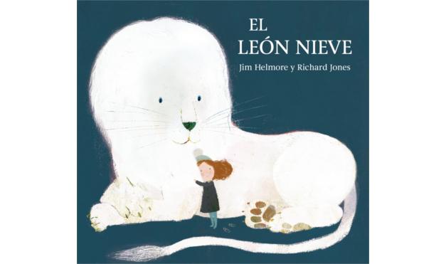 Ilustración del libro el León Nieve - Jim Helmore y Richard Jones